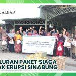 Penyaluran Paket Siaga Dampak Erupsi Sinabung – Ulil Albab